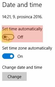 Change sat date